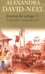 Journal de voyage, Lettres à son mari, Vol. 1 de Alexandra David-Neel ed. Pocket 8,10€