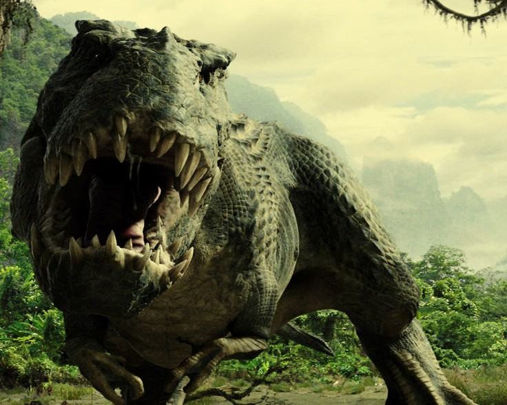 """Academy AwardÆ winner Peter Jackson follows his triumphant """"Lord of the Rings"""" trilogy with the dramatic adventure """"King Kong"""". A T. Rex menaces Kong and Ann Darrow in the jungles of Skull Island. """"King Kong"""" will be released in theaters on December 14, 2005."""