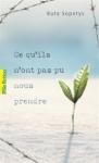 Ce qu'ils n'ont pas pu nous prendre ed. Gallimard 7,75€